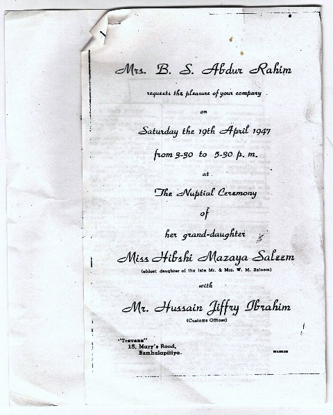 Sri Lanka Moor Family Genealogy
