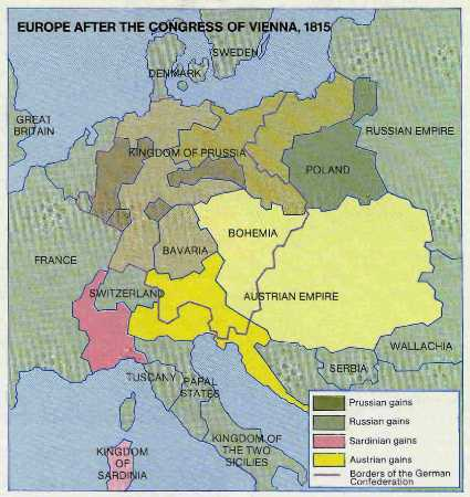 After congress of vienna 1815 europe after congress of vienna 1815 sciox Choice Image