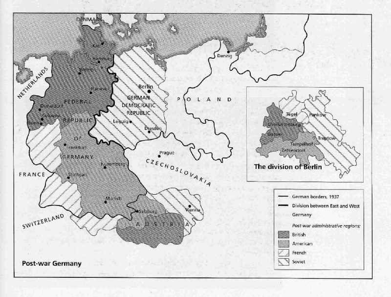 map of germany 1945